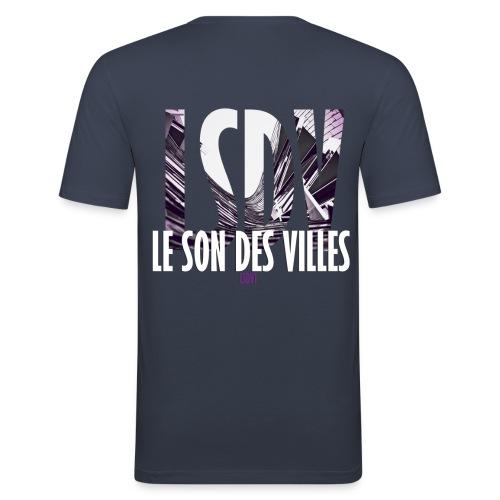 Le Son Des Villes : Ondes - T-shirt près du corps Homme
