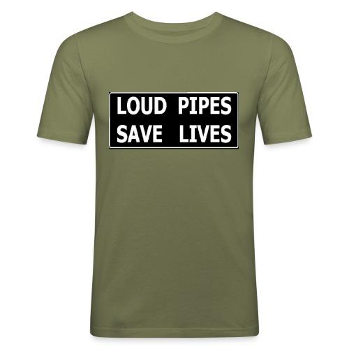 loud pipes - T-shirt près du corps Homme