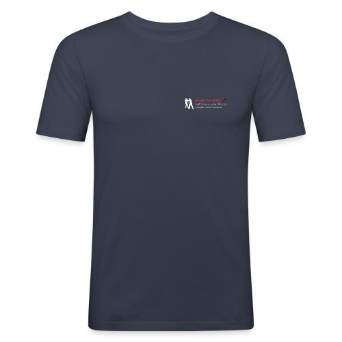 LogoCarre3color - T-shirt près du corps Homme