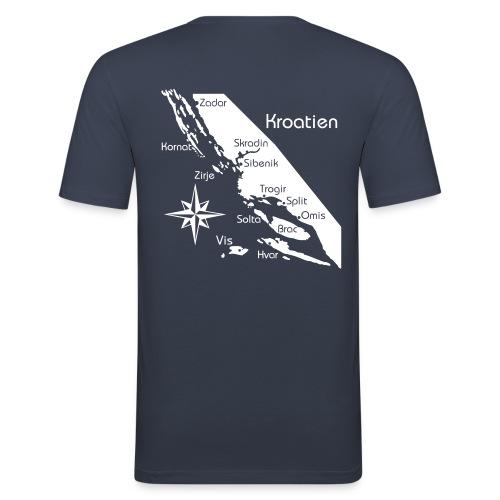 Kroatien Zadar bis Hvar - Männer Slim Fit T-Shirt