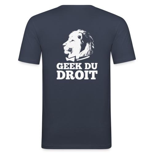 logoliongeektoileblanc - T-shirt près du corps Homme