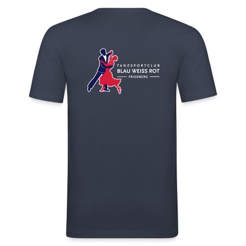 Logo TSC Friedberg Für dunklen Hintergrund - Männer Slim Fit T-Shirt