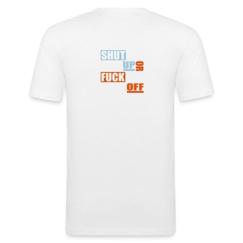 stfu ftfo - Mannen slim fit T-shirt