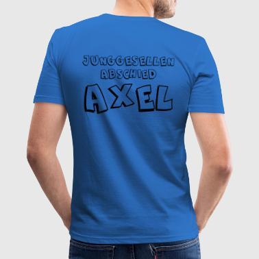 Junggeselle Axel - Männer Slim Fit T-Shirt