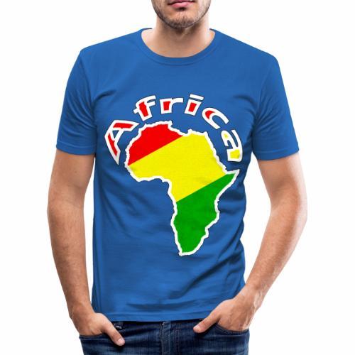 Afrika - rot gold grün - Männer Slim Fit T-Shirt