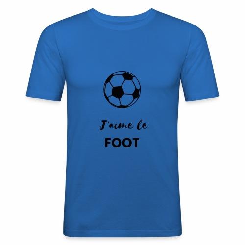 J aime le football - T-shirt près du corps Homme
