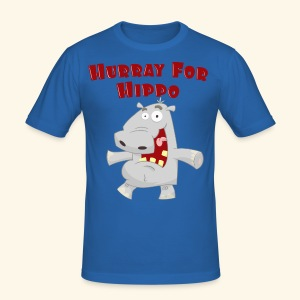 Toddlers & Kids Happy Hippo T Shirt - Men's Slim Fit T-Shirt