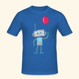 Cute Robot Kids Tees - Men's Slim Fit T-Shirt