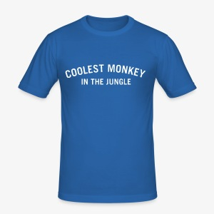 COOLEST MONKEY IN THE JUNGLE - Männer Slim Fit T-Shirt