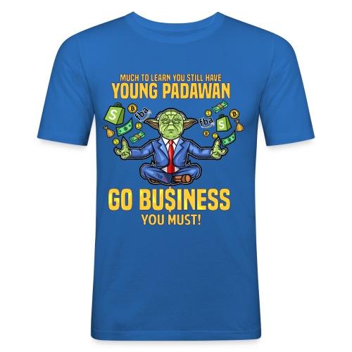 Yoda say's GO BUSINESS! - Männer Slim Fit T-Shirt