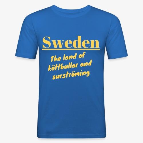 Landet av köttbullar - Slim Fit T-shirt herr