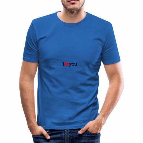 i love you Tengosangreazul - Camiseta ajustada hombre