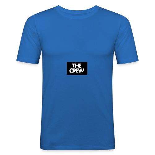 the crew logo - Maglietta aderente da uomo