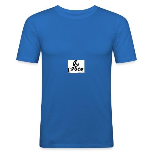 Peace_recordzz_Prod - Männer Slim Fit T-Shirt