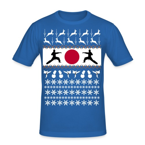 Karate Christmas Jumper - Men's Slim Fit T-Shirt