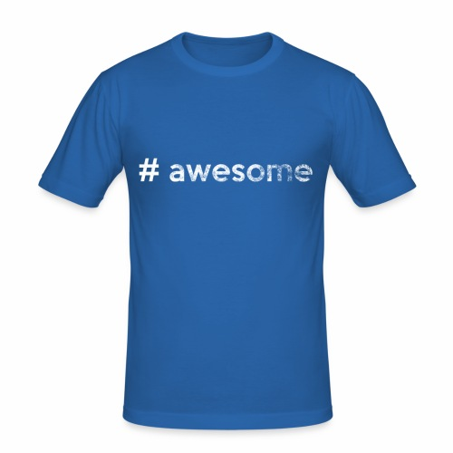 # awesome | genial - Männer Slim Fit T-Shirt