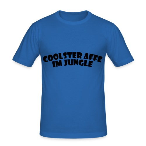 Coolster Affe im Jungle - Männer Slim Fit T-Shirt