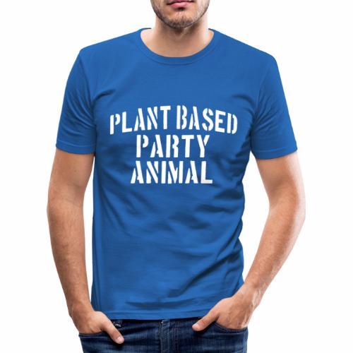 Plant Based Party Shirt Veganer T-Shirt Geschenk - Männer Slim Fit T-Shirt