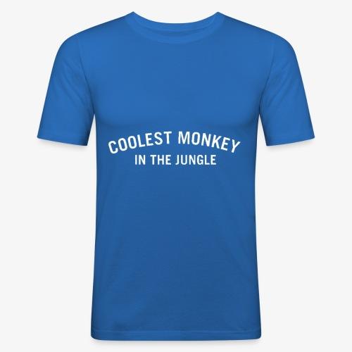 COOLEST MONKEY IN THE JUNGLE - Männer Slim Fit T-Shirt