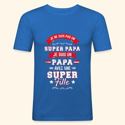 Je ne suis pas un SUPER PAPA - T-shirt près du corps Homme