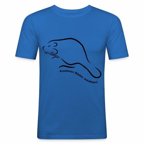Ausatmen Bieber, ausatmen! - Männer Slim Fit T-Shirt