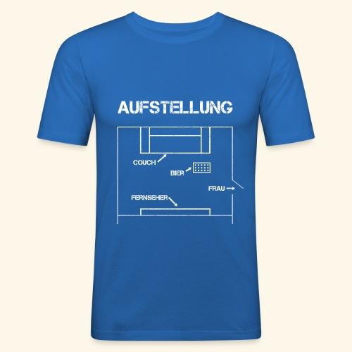 Fussball Aufstellung Weltmeisterschaft Geschenk - Männer Slim Fit T-Shirt