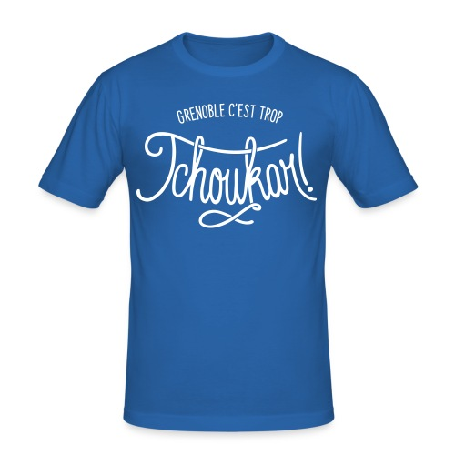 grenoble, c'est trop tchoukar - T-shirt près du corps Homme