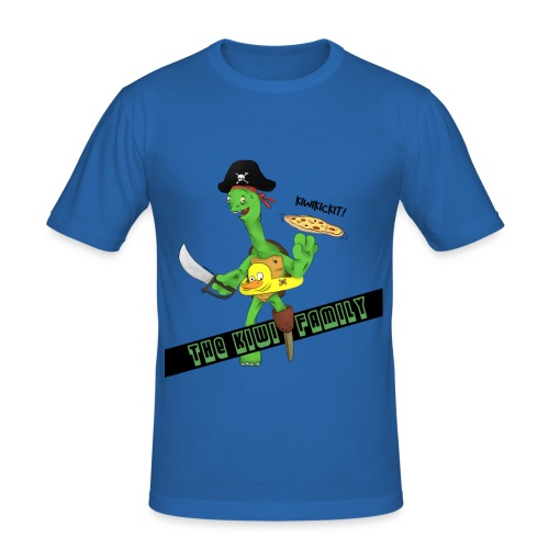 The kiwi family logo - Slim Fit T-skjorte for menn