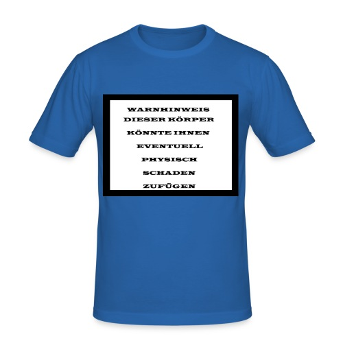 Warnhinweis - Männer Slim Fit T-Shirt