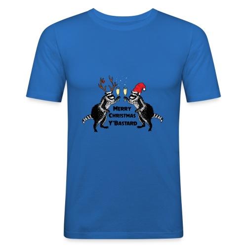 Xmas Raccoons - Men's Slim Fit T-Shirt