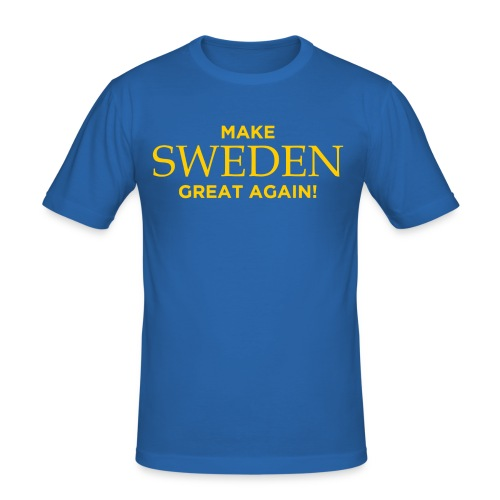 Make Sweden Great Again! - Slim Fit T-shirt herr