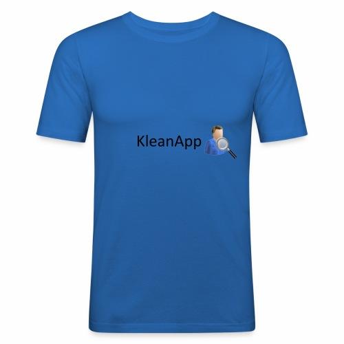 KleanApp Logo - Männer Slim Fit T-Shirt