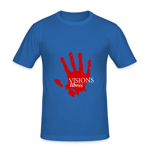 Visions Libres Brand - Männer Slim Fit T-Shirt