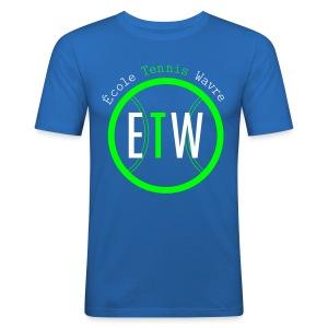 logo rond tennis vert - Tee shirt près du corps Homme