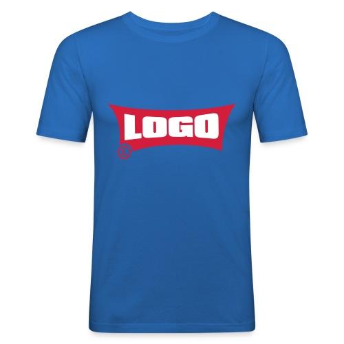 Logo Logo Red Block - Men's Slim Fit T-Shirt
