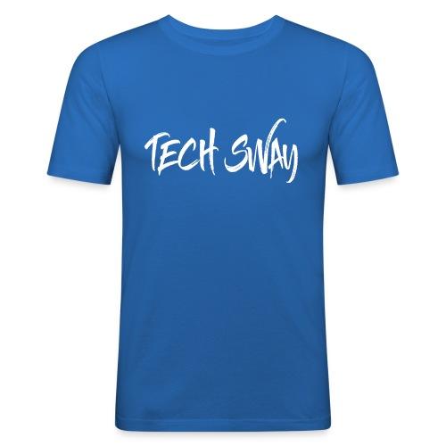 TechSwayWhiteLogo - Men's Slim Fit T-Shirt