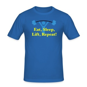 EatSleepLiftRepeat - Männer Slim Fit T-Shirt