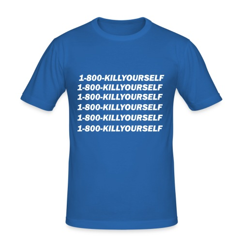 1-800-killyourself - Slim Fit T-skjorte for menn