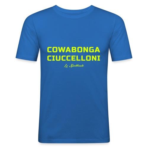 Cowabonga ciuccelloni - Maglietta aderente da uomo