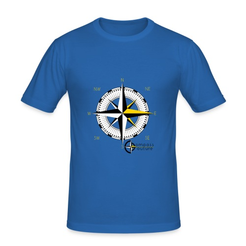 compass_logo_gold - Männer Slim Fit T-Shirt