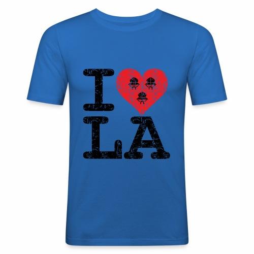 I love LA! schwarz scratchy - Männer Slim Fit T-Shirt
