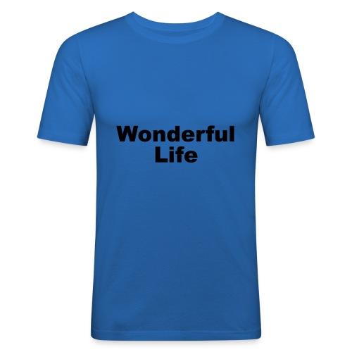 WonderfulLife - Männer Slim Fit T-Shirt