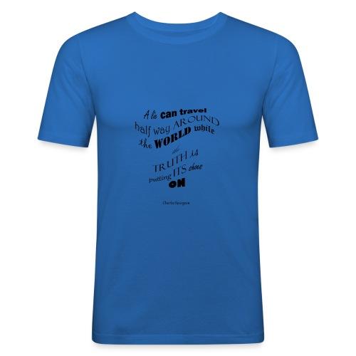 A_Lie-- - Men's Slim Fit T-Shirt