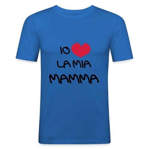 Io Amo La Mia Mamma - Maglietta aderente da uomo
