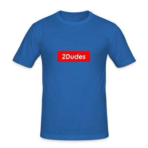 2Dudes Box Logo - Men's Slim Fit T-Shirt