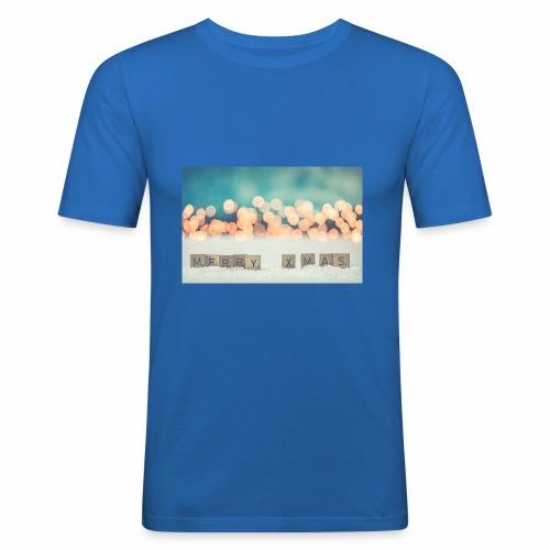 Merry Christmas - Herre Slim Fit T-Shirt