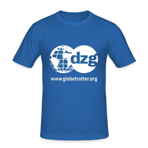 dzg logo Text white - Männer Slim Fit T-Shirt