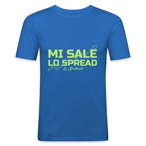Mi sale lo spread - Maglietta aderente da uomo