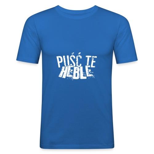 PTH white D - Obcisła koszulka męska
