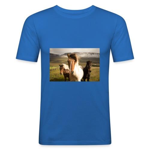 Islandpferde - Männer Slim Fit T-Shirt